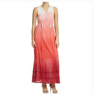 Tommy Bahaha Pink Ombré Maxi Dress Medium
